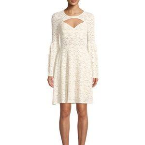 BCBG cream lace dress